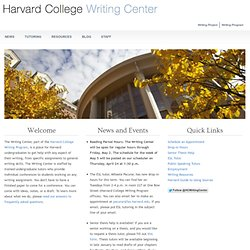 Harvard Outlining