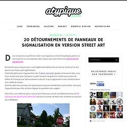 20 détournements de Panneaux de signalisation en version Street Art