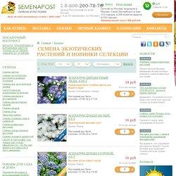 Семена экзотических растений и новинки селекции - Семена почтой купить в интернет магазине