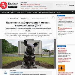 Памятник лабораторной мыши, вяжущей нить ДНК Новосибирск