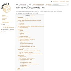 WorkshopDocumentation - La documentation dans les fablabs