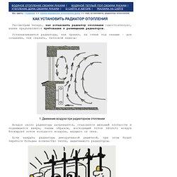 Как установить радиатор отопления: требования к установке радиаторов