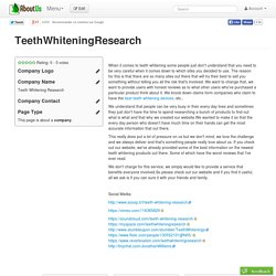 TeethWhiteningResearch