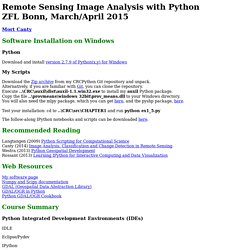 Image analysis with Python