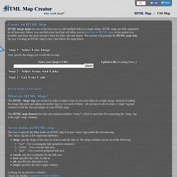 HTML Map, CSS Map, Image Map Creator