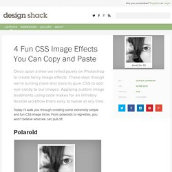 4 Fun CSS Image Effects You Can Copy and Paste