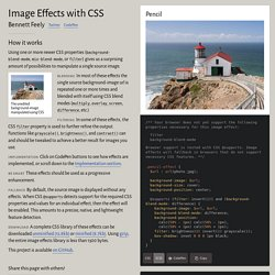 Image Effects with CSS