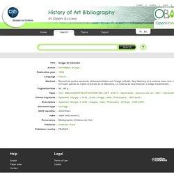 Image et mémoire - OpenBibArt