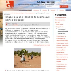 Image à la une : jardins féminins aux portes du Sahel