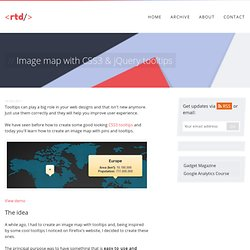 Image map with CSS3 & jQuery tooltips