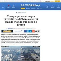 L'image qui montre que l'investiture d'Obama a réuni plus de monde que celle de Trump