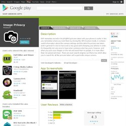 Image Privacy - Aplikace pro Android ve službě Google Play