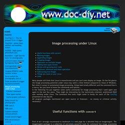 Image processing under Linux - The basics