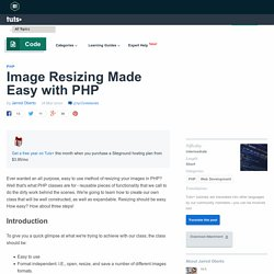 Image Resizing Made Easy with PHP