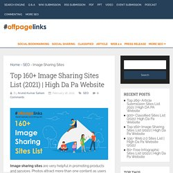 Top 160+ Image Sharing Sites List (2021)