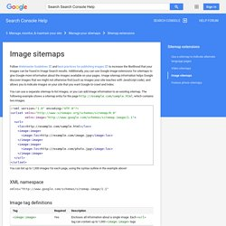 Image sitemaps - Search Console Help