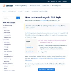 How to Cite an Image in APA Style