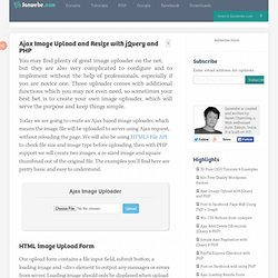 Ajax Image Upload and Resize with jQuery and PHP