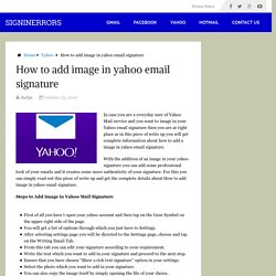Add image in Yahoo Email Signature