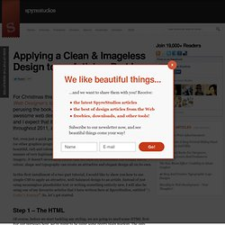 Applying a Clean & Imageless Design to an Article – Part I