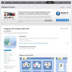 Imagemo, des images et des mots pour iPad sur l'iTunes App Store