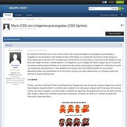 Menú CSS con imágenes precargadas (CSS Sprites) - Para tu pagina