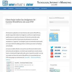 Cómo bajar todas las imágenes de vuestro WordPress sin usar FTP