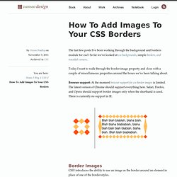 How To Add Images To Your CSS Borders