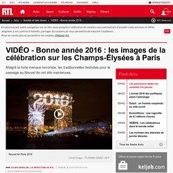 VIDÉO - Bonne année 2016 : les images de la célébration sur les Champs-Élysées à Paris