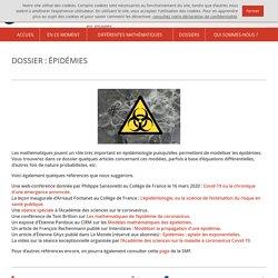 Dossier épidémies Images des mathématiques (CNRS)