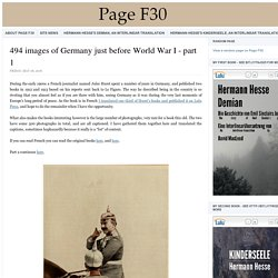 494 images of Germany just before World War I - part 1