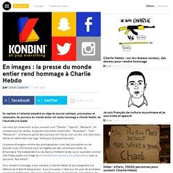 En images : la presse du monde entier rend hommage à Charlie Hebdo