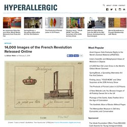 14,000 Images of the French Revolution Released Online