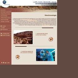 CNRS - la Géochronologie