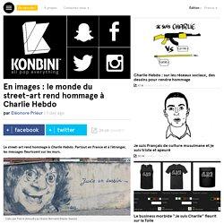 En images : le monde du street-art rend hommage à Charlie Hebdo