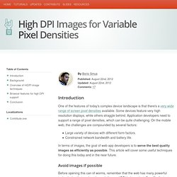 High DPI Images for Variable Pixel Densities