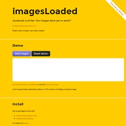jQuery imagesLoaded