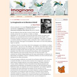 La imaginación en la literatura infantil, por Gianni Rodari - Imaginaria No. 125 - 31 de marzo de 2004