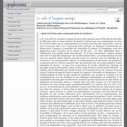 Le visible et l'imaginaire numérique - GRAPHORAMA.net