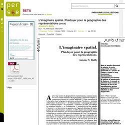 L'imaginaire spatial. Plaidoyer pour la géographie des représentations - persee.fr