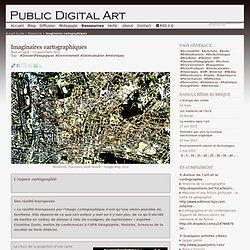 Imaginaires cartographiques/Usages des TIC, arts numériques et culture multimédia-Public Digital Art