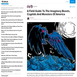 A Field Guide To The Imaginary Beasts, Cryptids And Monsters Of America