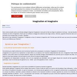 Imagination et imaginaire - Philisto