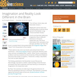 Imagination and Reality Look Different in the Brain