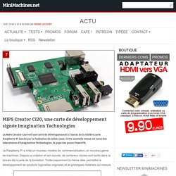 MIPS Creator CI20 la Raspberry Pi d'Imagination Technologies