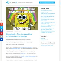 9 Imaginative Tips for Absorbing Vocabulary Like a Sponge