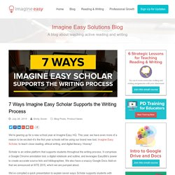 7 Ways Imagine Easy Scholar Supports the Writing Process – Imagine Easy Solutions