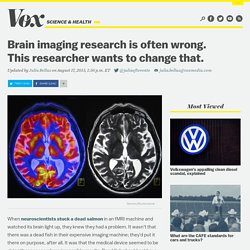 Brain imaging research is often wrong. This researcher wants to change that.