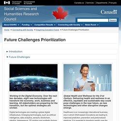Imagining Canada's Future - 2018 Consultation