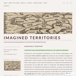 Imagining a territory – Imagined territories